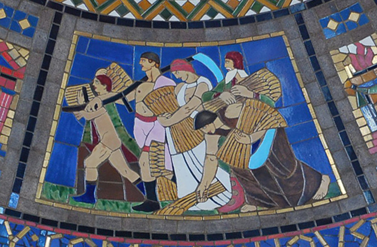 Wheat Harvest panel from Vestibule dome.