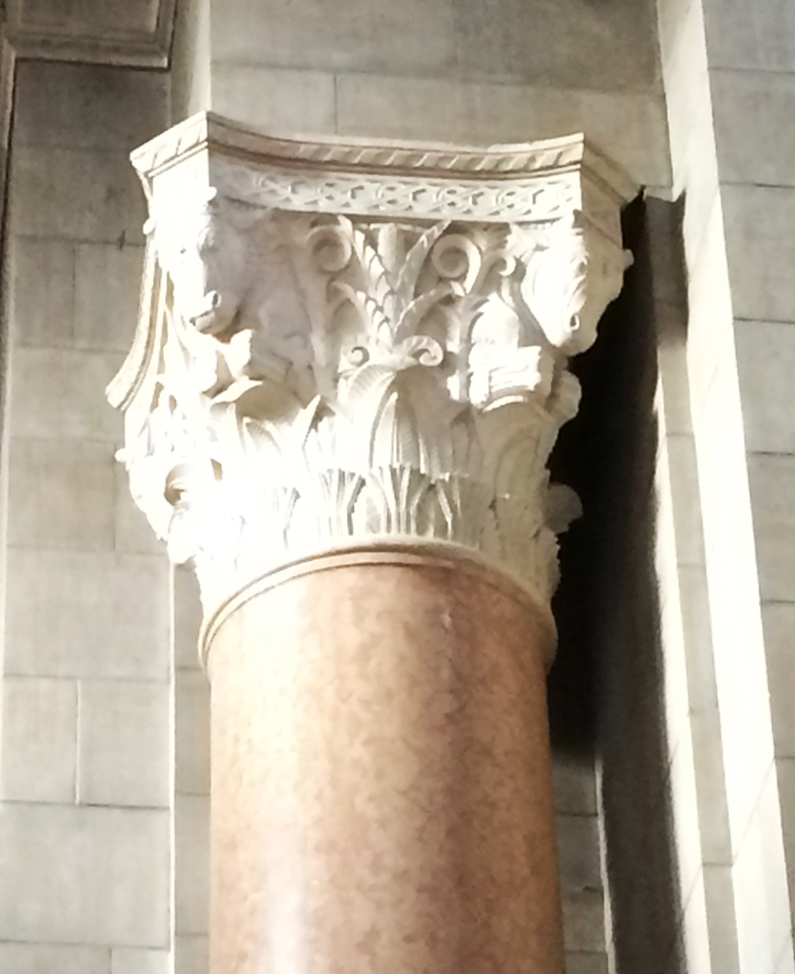 Lawrie's Vestibule capital features Nebraska Icons.