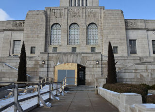 East Entrance open to public during HVAC project.
