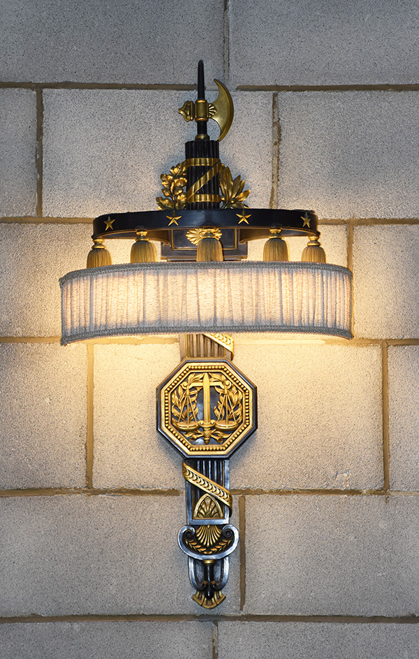 Supreme Court bracket lamp