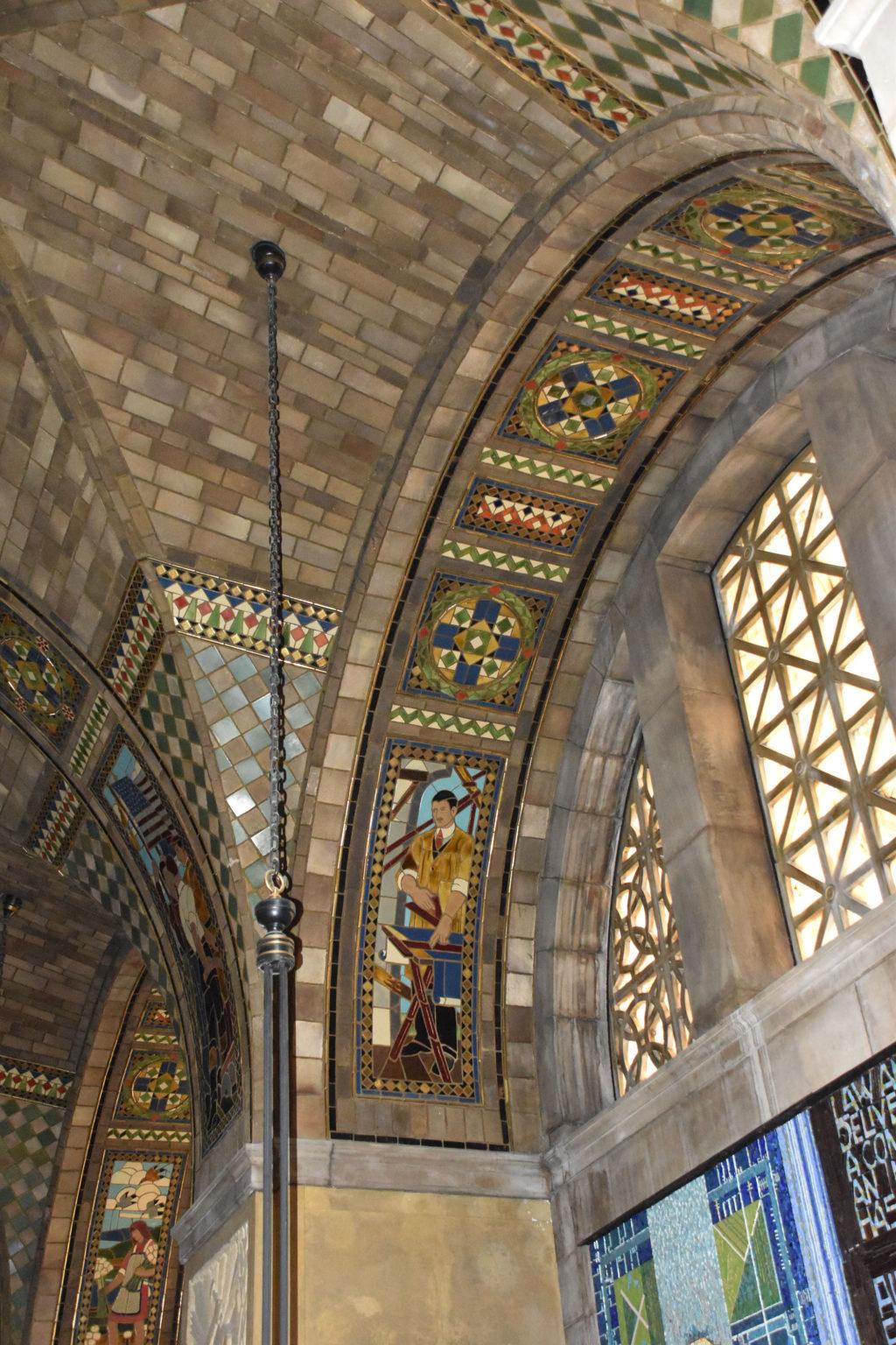 Foyer vault viewed from rotunda balcony