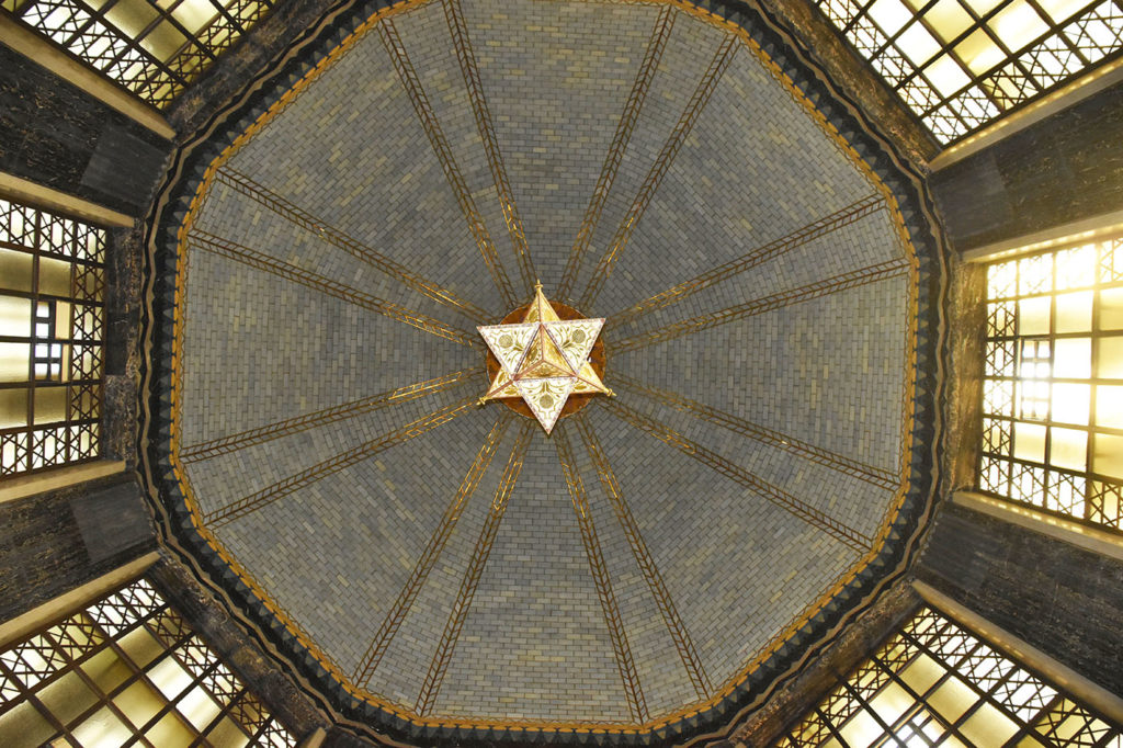 The Memorial Chamber dome represents the sky and the chandelier, Venus, the morning  star, sacred to Nebraska's first people.