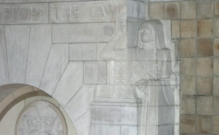 Relief Carving of Native American Guide
