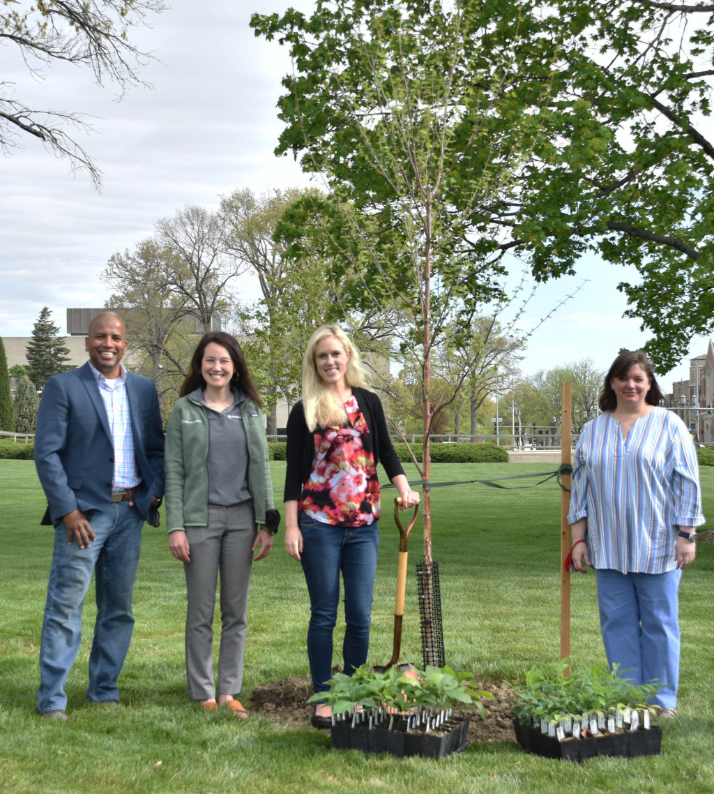 Speakers at Capitol Arbor Day tree planting